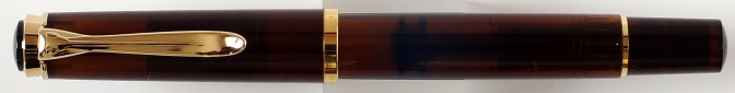 Pelikan M200 Smoky Quartz Fountain Pen Capped