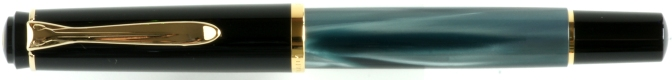 Pelikan M200 Green Marbled Capped