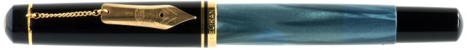 Pelikan M250 Blue Marbled Nib-On-A-Chain Pre-'97 Capped
