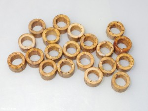 Various cork piston seals