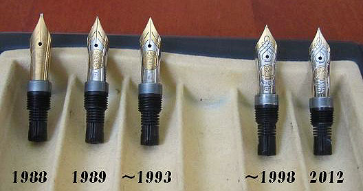M600 nibs across the years