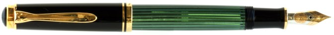 Pelikan M600 Green Striated Old Style Posted