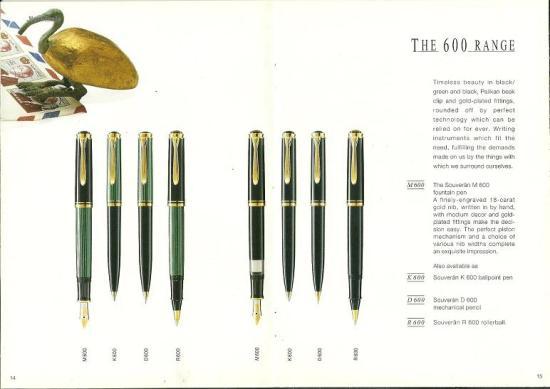 Pelikan catalog excerpt circa 1995