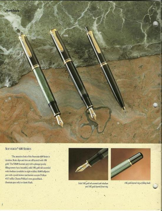 Pelikan catalog excerpt circa 1990