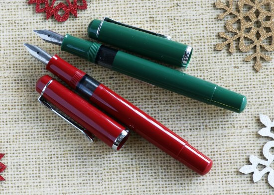 Red and Green Pelikan M100's