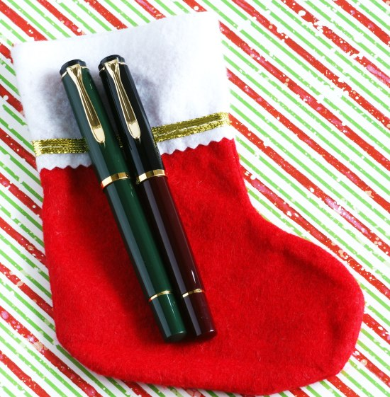 Pelikan M200 fir green and black/burgundy