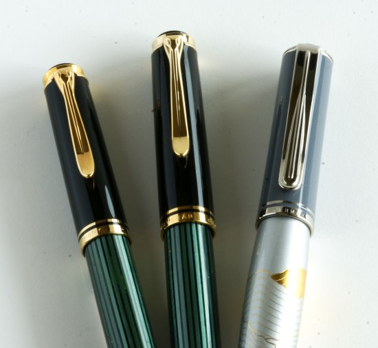 Old & new style Pelikan M600's and a Pelikan M640 Mount Everest