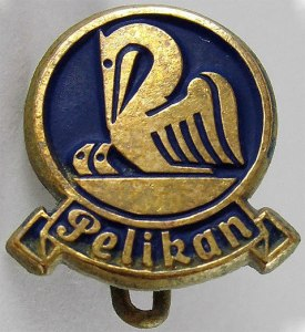 Pelikan Gold & Blue Badge/Pin