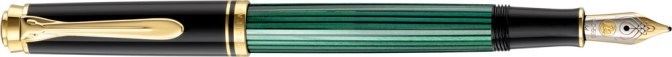 Pelikan M300 Green Striped Posted