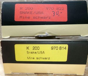 Package labeling for Pelikan R200 and K200 Snakekin