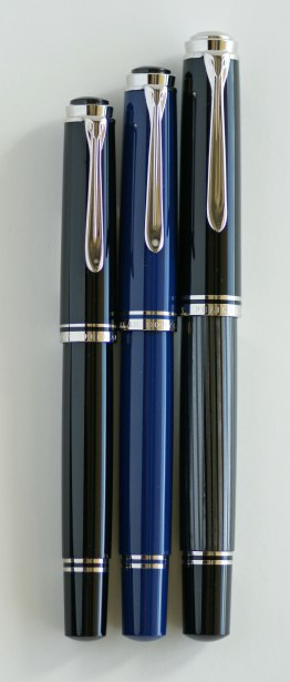 Pelikan M405 Black, M605 Solid Dark Blue, M805 Anthracite Stresemann