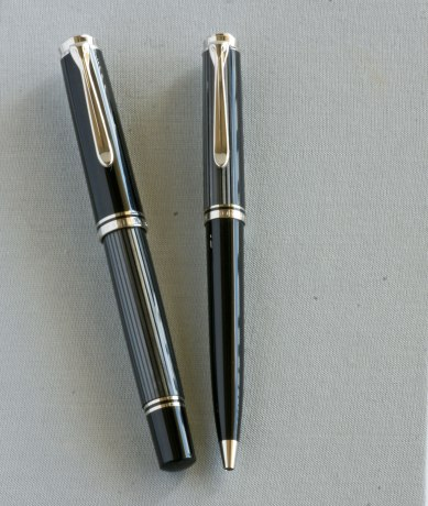 Pelikan M805 & K805 Anthracite Stresemann Fountain Pen and Ballpoint