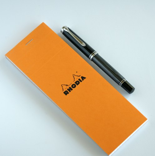 Pelikan M805 Anthracite Stresemann with Rhodia Note Pad