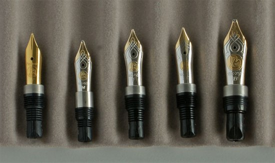 Pelikan M200 Gold plated SS, M320 14C, M400 14C, M600 14C, and M800 18C nibs