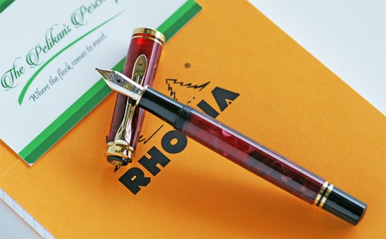 Pelikan Ruby Red M320 with Rhodia notebook