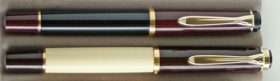 Classic Series, post-'97: Black-burgundy M150 (top) and Café Crème M200 (bottom)