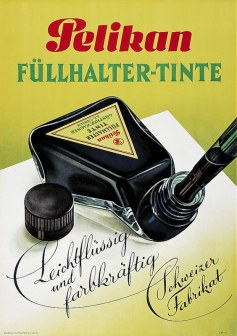 Vintage Pelikan Advertisement for Fountain Pen Ink