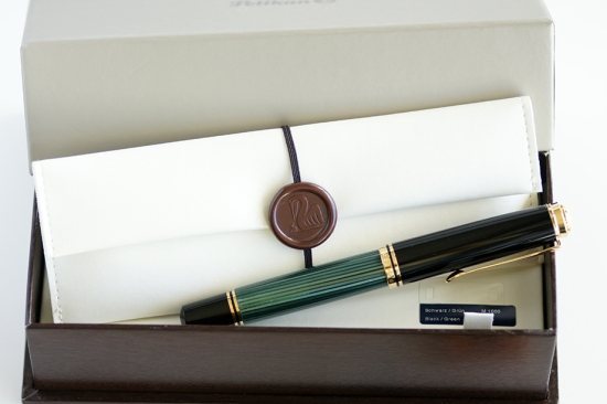 Pelikan M1000 Green Striped With Gift Packaging