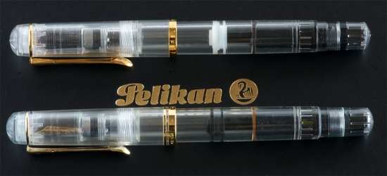 Pelikan M481 and M200 clear demonstrators