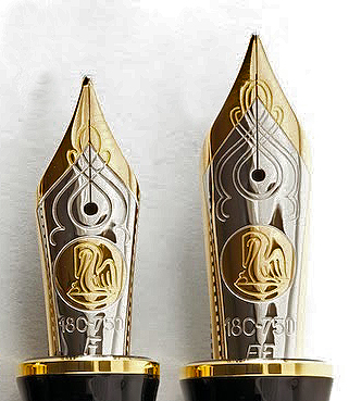 Pelikan Nib Scroll Work