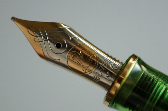 Pelikan M800 Transparent Green Collector's Edition Nib