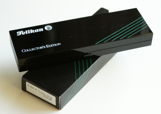 Pelikan M800 Transparent Green Collector's Edition Packaging