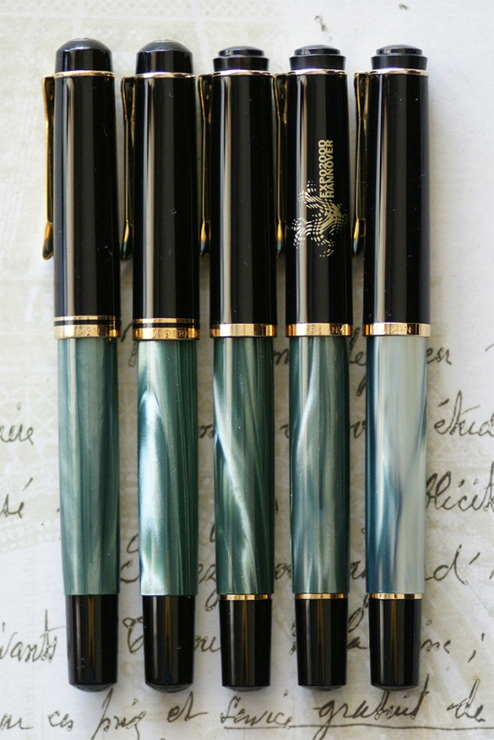 M2xx Green Marbled Fountain Pens 1985-2015