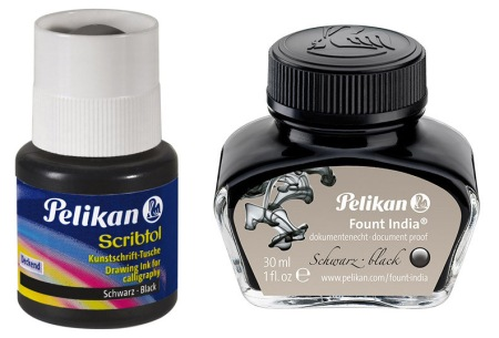 Pelikan Scribtol and Fount India Inks