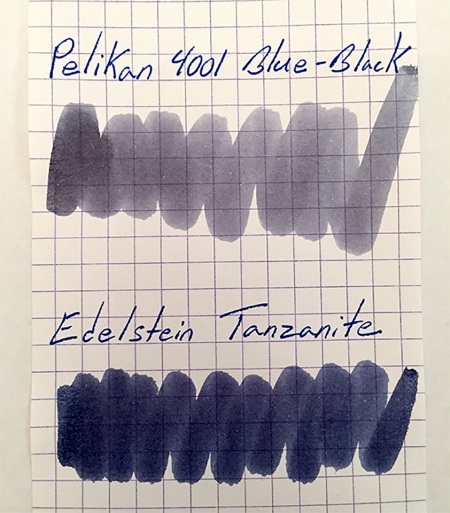 Pelikan 4001 Blue-Black and Edelstein Tanzanite swabs