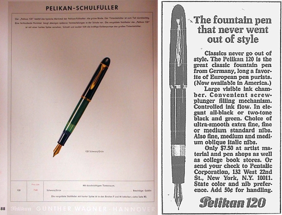 Pelikan 1955 Catalog and Type II 120 Advertisement