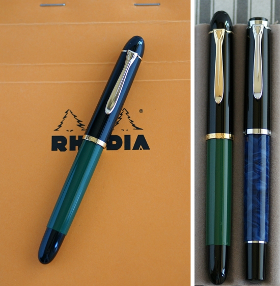 Pelikan M120N and M205 Neptune Blue Fountain Pens