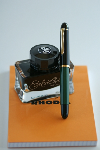 Pelikan M120N Fountain Pen & Edelstein Aquamarine Ink