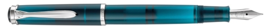 Pelikan M205 Aquamarine Fountain Pen Posted