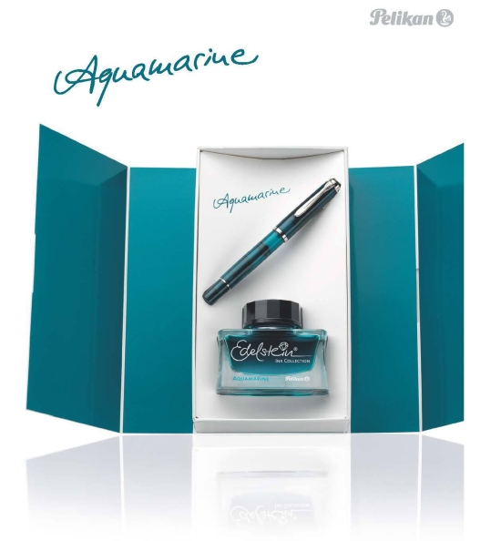 Pelikan M205 Aquamarine Fountain Pen & Ink Gift Set