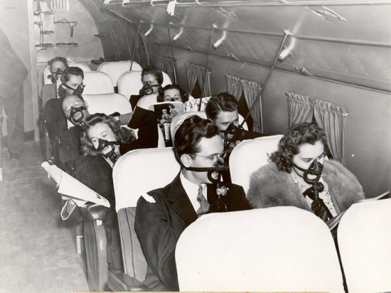 Photo depicting early air travel