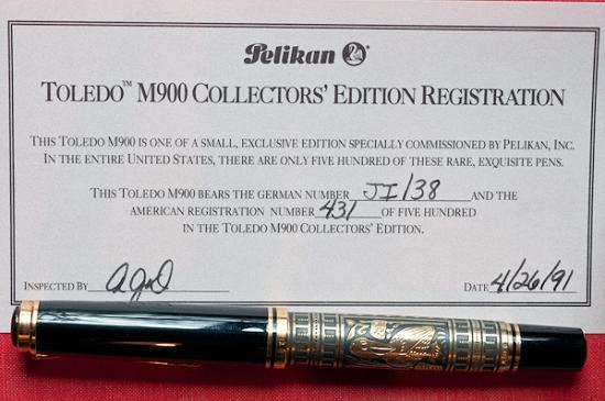 Pelikan M900 Toledo Certificate