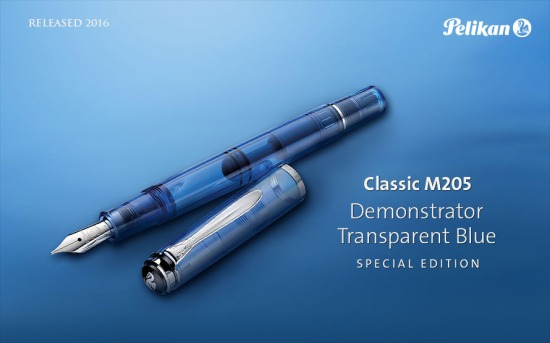 Pelikan M205 Transparent Blue Demonstrator