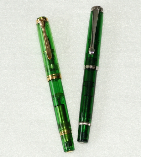 Pelikan M800 Green Demonstrator (1992) & Chronoswiss Styloscope (2002)