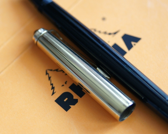 Pelikan P1 Rolled Gold Diamond Black Fountain Pen