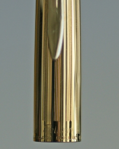 Pelikan P1 Rolled Gold Diamond Black Fountain Pen Cap