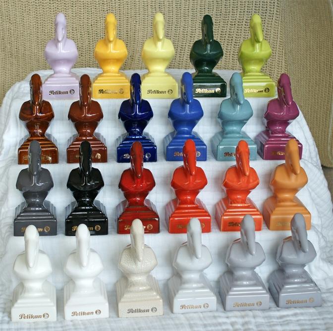 Ceramic Pelikan Pen Stands