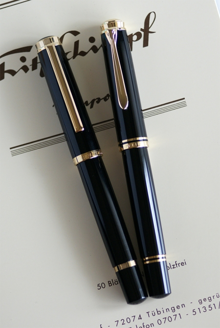 Tiffany & Co. M818 Atlas by Pelikan and black Pelikan M800