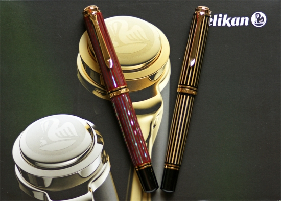 Pelikan M1000 Raden Sunrise and M800 Raden Royal Gold