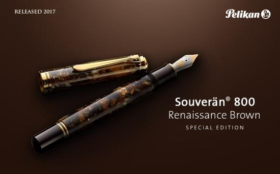 Pelikan M800 Renaissance Brown Fountain Pen