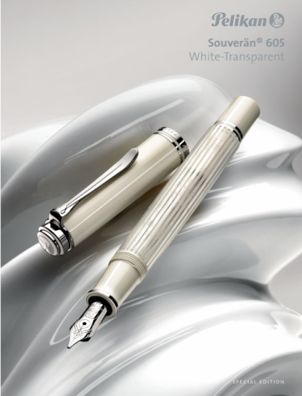 Pelikan M605 White Transparent Fountain Pen