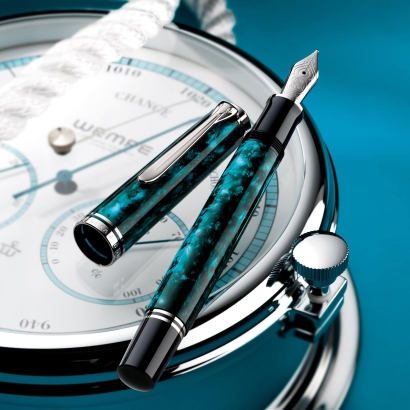 Pelikan M805 Ocean Swirl Fountain Pen