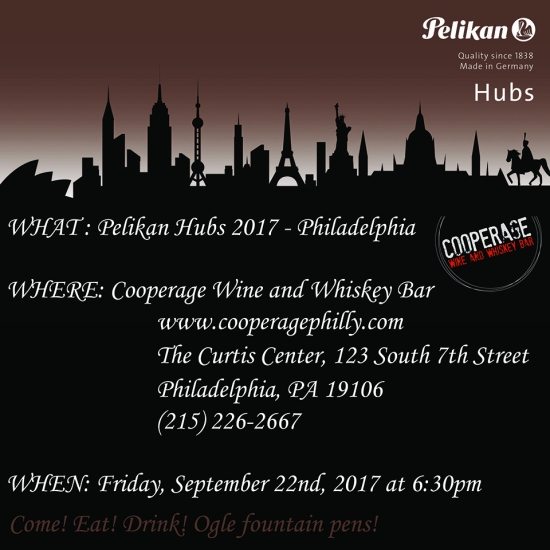Pelikan Hubs 2017 Philadelphia Invitation