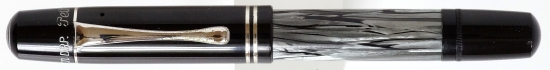 Pelikan 100N Gray Marbled w/ Nickel Trim capped