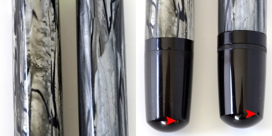 Pelikan 100N Gray Marbled bindes and piston knobs