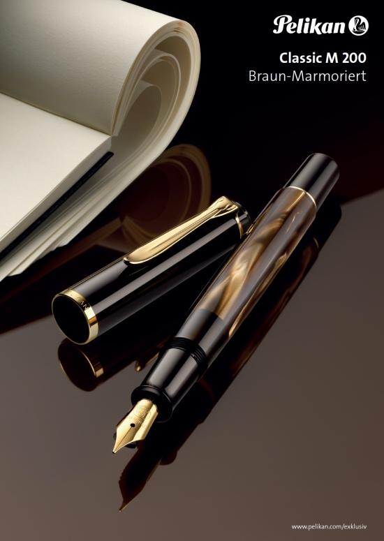 Pelikan M200 Brown Marbled